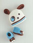 Милые шапочки и пинетки для малышей — фото, картинка — 4
