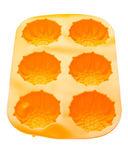 Форма силиконовая для выпекания кексов (275x180x30 мм; оранжевый) — фото, картинка — 1