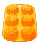 Форма силиконовая для выпекания кексов (275x180x30 мм; оранжевый) — фото, картинка — 2
