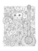 Котики. Раскраски, поднимающие настроение — фото, картинка — 3