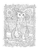 Котики. Раскраски, поднимающие настроение — фото, картинка — 4