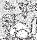 Раскраска-антистресс. Загадочные кошки — фото, картинка — 6