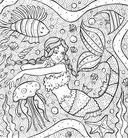 Раскраска-антистресс. Тайны подводных садов — фото, картинка — 3