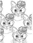 Кототерапия. Раскраска-антистресс для творчества и вдохновения — фото, картинка — 4