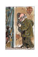 Старичок в клетчатых брюках — фото, картинка — 2