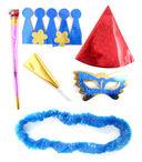 Набор для праздника (корона, дудка, язычок, колпак, маска, украшение на шею) — фото, картинка — 1