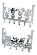 Вешалка для полотенец металлическая на дверь (6 крючков; 398х217 мм) — фото, картинка — 1